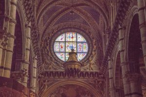 Stained glass window the Duomo