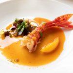 Langoustine with squash and Corsican orange