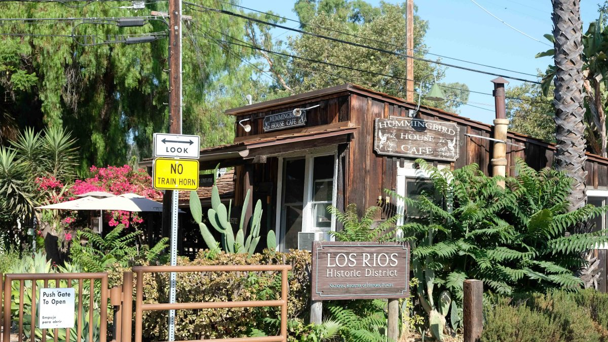 Entrance to the Los Rios Historic District
