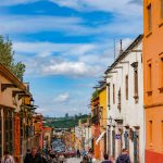 Blue sky, clouds and colors of San Miguel